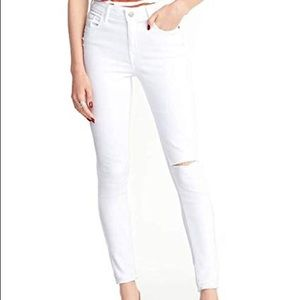 old navy white rockstar jeans